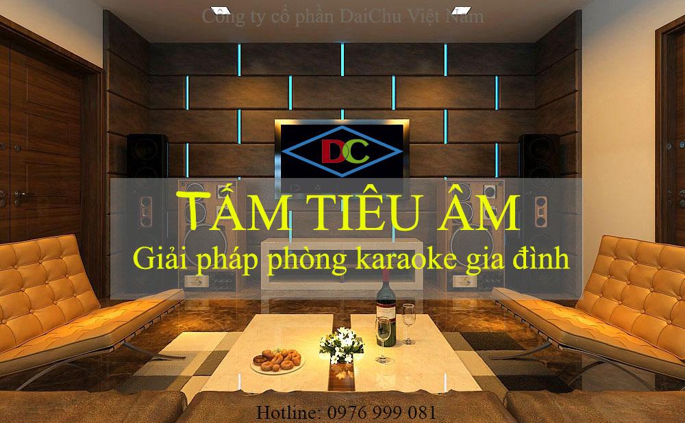Tấm sợi gỗ tiêu âm giải pháp phòng karaoke gia đình