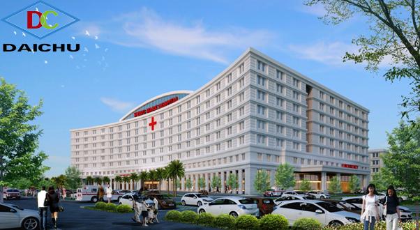 Hình thiết kế sảnh chính bệnh viện Shingmark