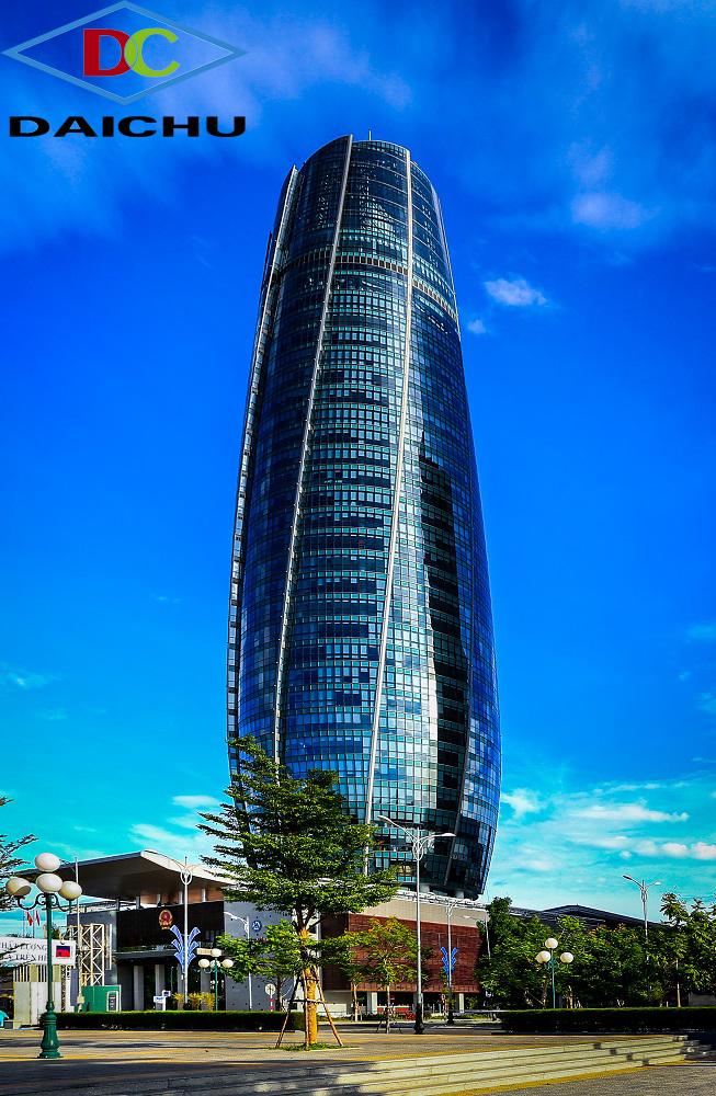 Với chiều cao 37 tầng, tòa nhà trung tâm hành chính Đà Nẵng đang giữ kỷ lục tòa nhà cao nhất Đà Nẵng.