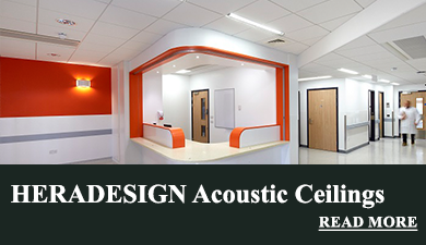 Heradesign acoustic systems like wood wool panels or acoustic insulation made of mineral wool are the perfect solutions for sound absorption