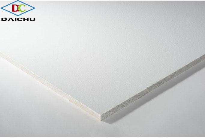 Tấm trần sợi khoáng THERMATEX Plain/Schlitch vuông cạnh SK
